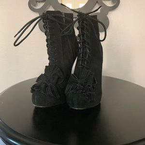Betsey Johnson boots with heel